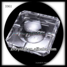 K9 Gray Crystal Ashtray with Facets