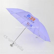 Parapluie pliable 4 de polyester pourpre léger bon marché (YS4F0004)