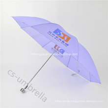 Cheap Light Purple Polyester Cover 4 Fold Umbrella (YS4F0004)