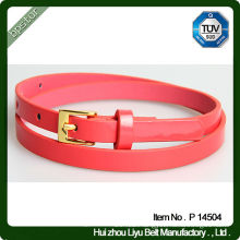 Gold Buckle Russian Girls Skinny Belt