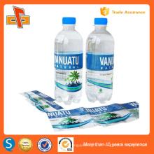 Coloridos impressão plástico PET pvc encolher manga etiqueta para garrafa de bebida