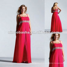 Spaghetti Sweetheart Chiffon Com Jeweled Waistband Evening Dress 2012