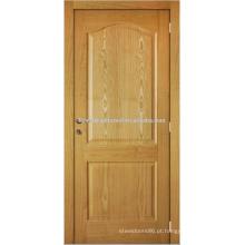 Folheado de carvalho branco inacabado moldado porta