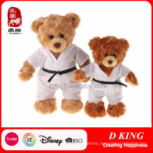 a Couple of Taekwondo Uniform Stuffed Teddy Bear Toy
