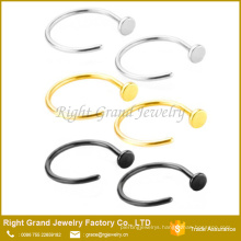 Wholesale Fashion Silver Stainless Steel Body Piercing Nose Hoop