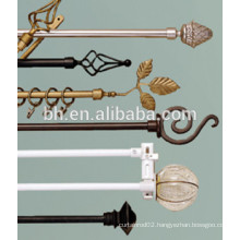 White Black Cast Iron Curtain Rods
