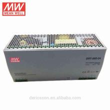 fonte de alimentação 24vdc 40a do trilho do ruído do meanwell 960W com os CB do CE do UL garantia de 3 anos DRT-960