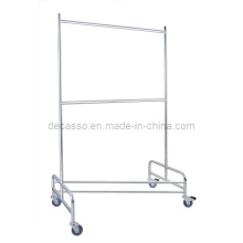 Mobile Stainless Steel Coat Hanger/ Laundry Cart (DD23)