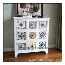 Unique new design decorative antique fir wooden cabinet bed stand