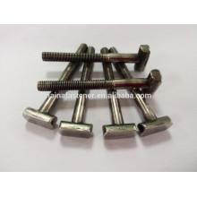 Parafuso de aço inoxidável não padronizado personalizado de T, parafuso do punho de t, parafuso em forma de t