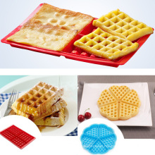 Nonstick Food Grade Rectangle Shape Silicone Mould Waffle Mould