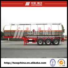 Carro transporte nitrogênio líquido e semi-reboque em segurança