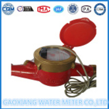 Dn15mm Brass Material Pulse Output Water Meter