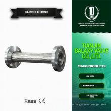 Фланцевый тип 1 2-дюймовая нержавеющая сталь, оплетенная 30 мм гибкая металлическая труба для шланга