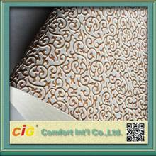 2018 Chinese Upholstery Leather PVC Embossed Vinyl
