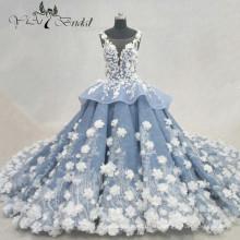 2016 Luxus Handgemachte Blumen Brautkleid Neueste Mariage Ballkleider Alibaba China Brautkleider QY-922