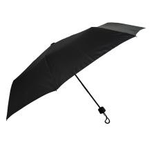 rubber coated black umbrella man