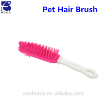 Hot selling dogs products pet hair grooming remover TPR brush with handle for cleaner accessories