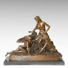 Mitología Figura Estatua Ángulo Señoras Escultura De Bronce TPE-363