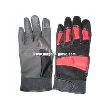 ПУ усиленные ладони Терри вязать механика работы перчатка-7403