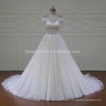 XF16020 off shoulder cap sleeves turkish design elegant bridal wedding dress