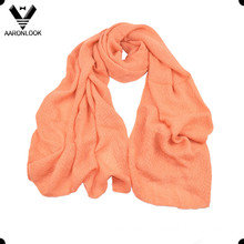 Solid Light Color Soft Acrylic Woven Scarf