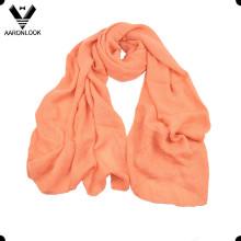 Твердый цвет Мягкий акриловый саржевый сплетенный сплетенный шарф
