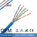 SIPU precio de fábrica cat6 cable de red de alta calidad 0,56 cable de cobre utp cat6 lan desnudo