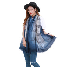 2016 New Design Gradient Color Polyester Scarf