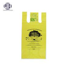 Желтый цвет ПЭ благотворительных мешок флексографской печати