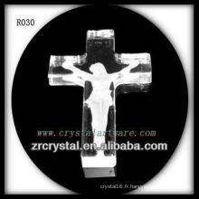 K9 Cristal fait à la main Intaglio Cross