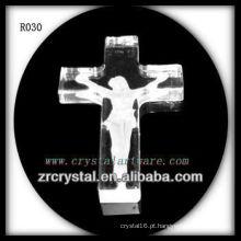 K9 Handmade Crystal Intaglio Cross