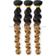 high quality 100% human brazilian ombre blond loose wave hair