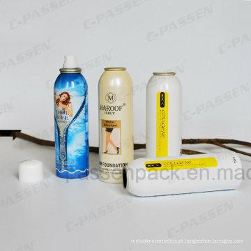 Lata de pulverizador de alumínio para o aerossol do perfume da fragrância do corpo (PPC-AAC-019)