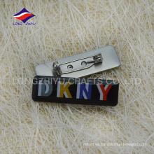 Epoxy ropa rectangular solapa pins, hecho en China