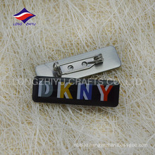 Epoxy clothes rectangular lapel pins, made in China