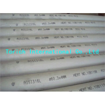 Seamless Circular Stainless Steel Tubes Approved ISO 9001
