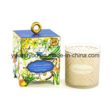 Bougie de cadeau d'anniversaire de soja Scetned romantique en verre avec boîte