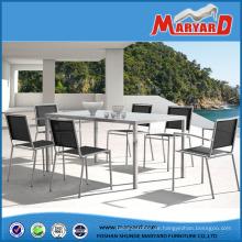 Stunning Edelstahl Gartenmöbel Set mit Esstisch und Stühlen