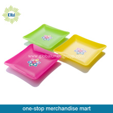 Solid Color Clear Plastic Square Fruit Plate