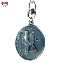 Metal custom 3d keyring with embossed logo
