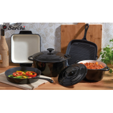 5 Pieces Enameled Cast Iron Parini Cookware Set
