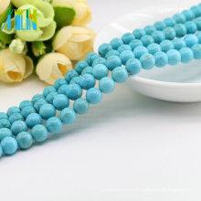 Adorno al por mayor M0006 Natural Color azul Suelto Real turquesa piedras preciosas