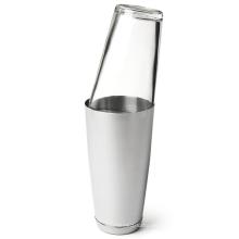 Bar Tools Juego de cóctel de acero y vidrio, coctelera