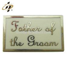 Fabricante de mancuernas de marca de cobre personalizado de nuevos productos con esmalte duro