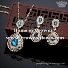 Wholesale Fashion Red Diamond Pendant Necklace Sets