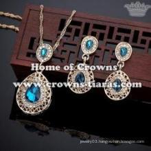 Wholesale Fashion Red Diamond Pendant Necklace Sets