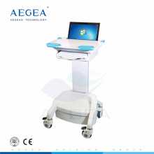 AG-WT005 more advanced hospital medical emergency height adjustable ABS notebook medical workstation trolley