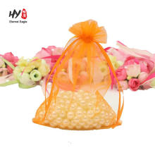 good Christmas organza gift bags with logo ribbon