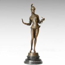 Figura clásica estatua Snaker bruja escultura de bronce TPE-203
